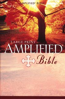 Amplified Bible Large Print, Bonded Leather Burgundy