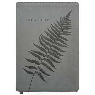 NLT Bible Large Print Grey Fern Flexitone