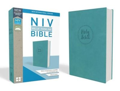 NIV Thinline Large Print Bible Imitation Leather