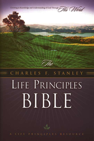 NKJV Charles Stanley Life Principles Daily Bible, Hard Cover