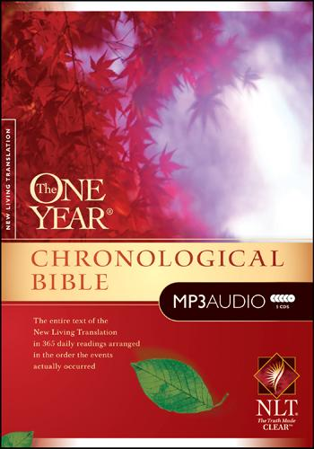 The NLT One Year Chronological Bible MP3 CD