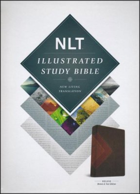 Illustrated NLT Study Bible Leatherlike Brown Tan