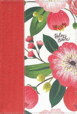 NKJV Bible Woman's Study Cloth Over Board Pink Floral Full Color