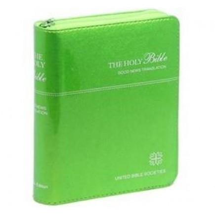 Good News Bible (GNB) Compact Imitation Leather with Zip Green