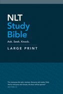 NLT Study Bible Large Print (Red Letter, Hardcover)